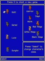 Final Fantasy J2ME Character selection