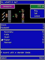 Final Fantasy J2ME Buying some weapons