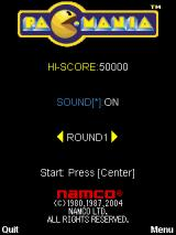 Pac-Mania J2ME Title screen
