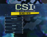 CSI: Crime Scene Investigation - Deadly Intent Windows Main Menu
