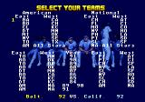 R.B.I. Baseball '93 Genesis Select a team
