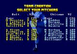 R.B.I. Baseball '93 Genesis Team creations lets you pick any player from any team