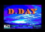 D-Day Amstrad CPC Title screen