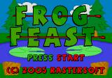 Frog Feast SEGA CD Title screen