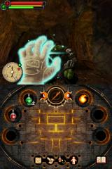 Fighting Fantasy: The Warlock of Firetop Mountain Nintendo DS You can use weapons or sling spells at your enemies.