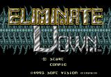 Eliminate Down Genesis Title screen
