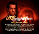 007: Nightfire PlayStation 2 Title screen.