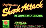Greg Norman's Shark Attack!: The Ultimate Golf Simulator DOS Title screen (CGA)