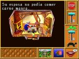 Mixed-Up Mother Goose Deluxe Windows 3.x Jack Sprat, in Spanish.