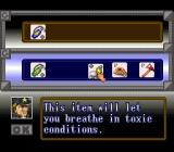 The Ignition Factor SNES Sorting out your inventory before a level.