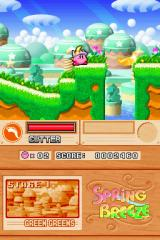 Kirby Super Star Ultra Nintendo DS Don't let the pleasant greenery fool you, there's bottomless pits everywhere!