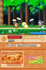 Kirby Super Star Ultra Nintendo DS The beam weapon in action.