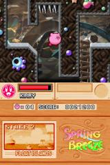 Kirby Super Star Ultra Nintendo DS Kirby's patented floating jump. Watch out for those spikes.