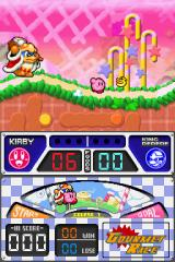 Kirby Super Star Ultra Nintendo DS Kirby and Dedede in a frantic foot race.