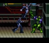 Jim Lee's WildC.A.T.S: Covert Action Teams SNES Maul will toss enemies up in the air after grabbing them so that he can punch them. This is just show-boating though, and actually deals less damage than Spartan or Warblade's throws.