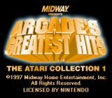 Arcade's Greatest Hits: The Atari Collection 1 SNES Title screen