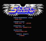 Silent Shadow MSX Title screen and credits