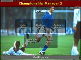 Championship Manager 2: The Italian Leagues Season 96/97 DOS Title screen