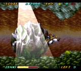 Kishin Dōji ZENKI: Battle Raiden SNES Giant boulder in a cave? Nothing strange about that.