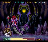 Kishin Dōji ZENKI: Battle Raiden SNES Halfway through the fight she switches it up to full on Medusa-mode.