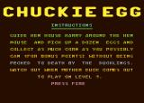 Chuckie Egg Atari 8-bit Instructions