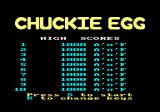 Chuckie Egg Amstrad CPC The high scores.