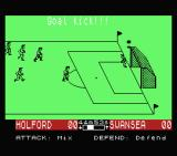 SuperStar Soccer MSX It went out of bounds beside the goal.