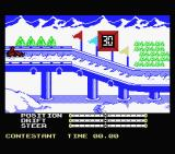 The Games: Winter Edition MSX At the starting line for the luge.