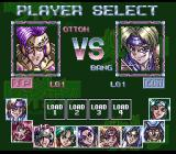 Battle Tycoon SNES Character Select screen.
