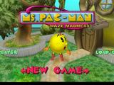 Ms. Pac-Man Maze Madness Nintendo 64 Title Screen