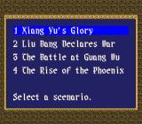 Rise of the Phoenix SNES Choose a scenario