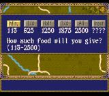 Rise of the Phoenix SNES Choose how much food to give