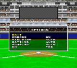 Super Bases Loaded 3: License to Steal SNES Options before the game starts