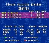 Super Bases Loaded 3: License to Steal SNES Choosing a starting pitcher