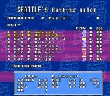Super Bases Loaded 3: License to Steal SNES Setting up the batting order