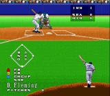 Super Bases Loaded 3: License to Steal SNES Pitching is done from the same viewpoint as when the player bats