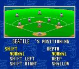Super Bases Loaded 3: License to Steal SNES Defensive shift options