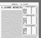 Super Bases Loaded 3: License to Steal SNES American League results from the Squiggly Line Tribune