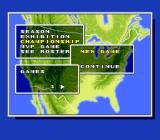 Super Bases Loaded 3: License to Steal SNES Setting the number of games for Championship mode