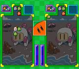 Super Bomberman: Panic Bomber W SNES Falling blocks are made out of Bomberman heads