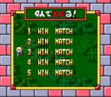 Super Bomberman: Panic Bomber W SNES Choose the number of matches for the multiplayer mode