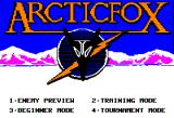 Arcticfox Apple II Title screen
