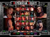 WWF Raw Windows Character selection screen