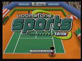 Boomerang Sports Tênis Zeebo Title screen.