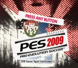 PES 2009: Pro Evolution Soccer PlayStation 2 Title screen.