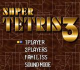 Super Tetris 3 SNES Title screen