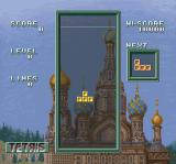 Super Tetris 3 SNES Blocks falling from the top of the screen
