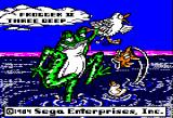 Frogger II: ThreeeDeep! Apple II Title screen