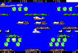 Frogger II: ThreeeDeep! Apple II Hopping along the surface of the water