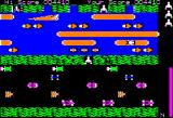 Frogger Apple II Gameplay on the second level